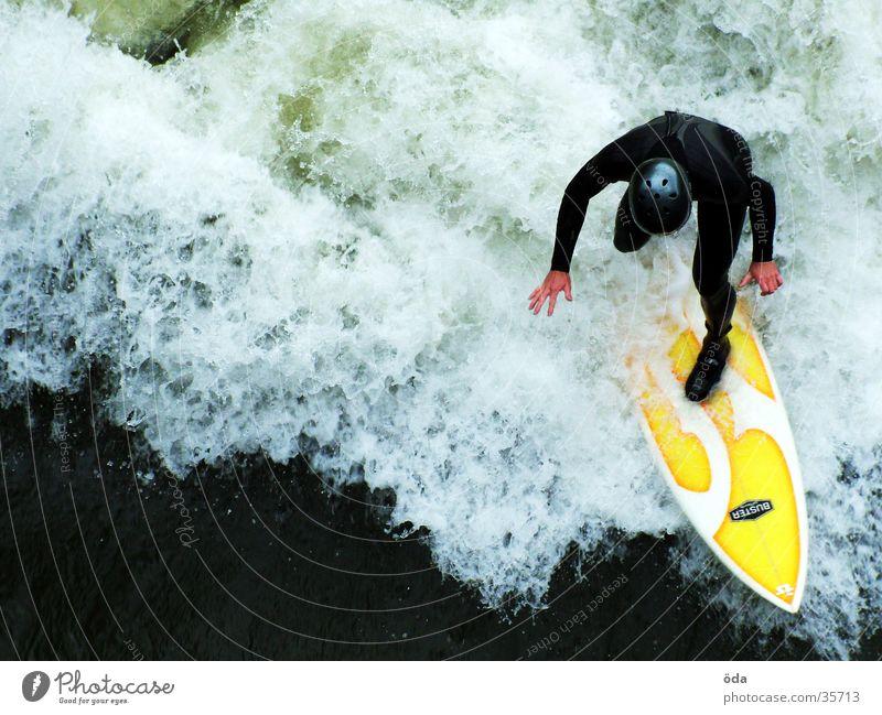Mur surfer Waves Surfboard Wetsuit Helmet Graz Sports Water Mura Surfing