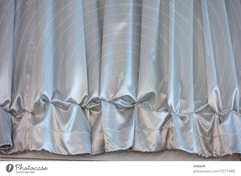 Ruched curtain Gray Blue Silk Adornment Theatre Frills Drape Ground Flounce crease Textiles Flat (apartment) Gathering Jewellery opulence splendour Stitching