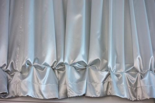 Ruched curtain Gray Blue Silk Adornment Theatre Frills Drape Ground Flounce crease Textiles Flat (apartment) Gathering Jewellery opulence splendour Stitching