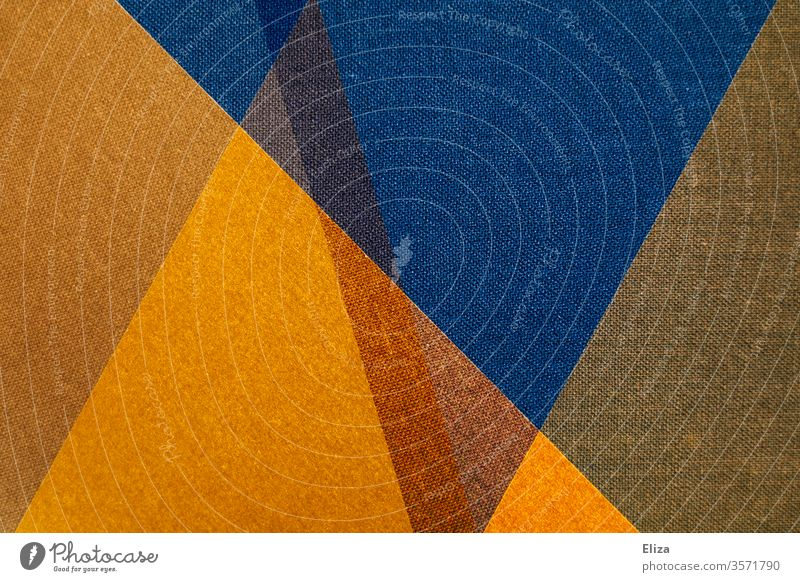 Abstract and graphic geometric shapes in blue and yellow gemoetric Work of art background Sharp-edged overlap Structures and shapes Art Design Pattern