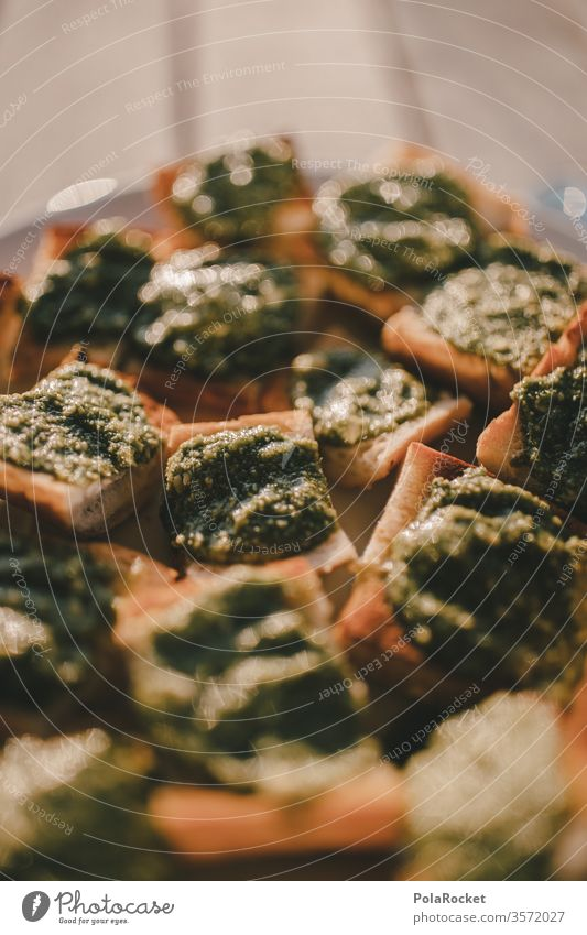 """#As# basil pesto snack Basil Basil Pesto Snack Canapés"""" Delicious Snack bar Vegetarian diet Italien pesto Food Nutrition Colour photo Lunch Healthy Fresh green"""