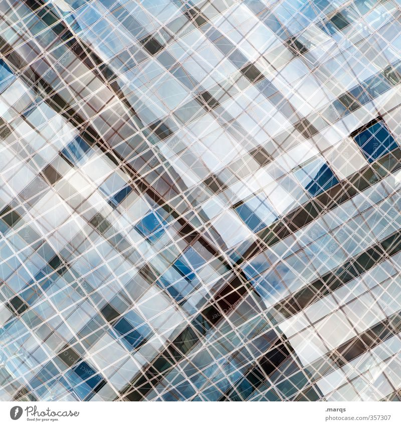 Window Style Exceptional Line Metal Facade Design Elegant Modern Glass Crazy Future Uniqueness Cool (slang) Irritation Double exposure