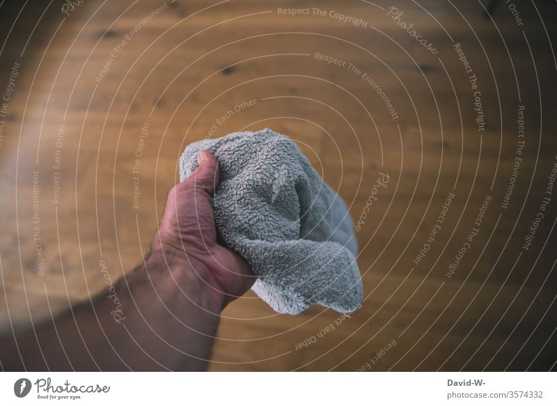 Taken literally l Throw in the towel Towel throw that by hand To hold on Cleaning polish neat Mr. Clean cleaner Cleanliness Arrangement Human being Colour photo