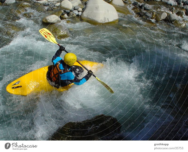 Water Waves River Canoe Kayak Extreme sports Whitewater