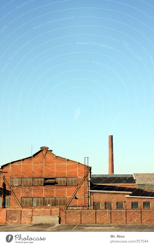 Old Window Building Wall (barrier) Germany Facade Work and employment Industry Beautiful weather Change Historic Past Manmade structures Factory Cloudless sky