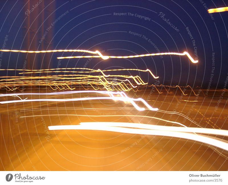 Cars by night - Mainz Night Speed Mobility Floodlight Bridge