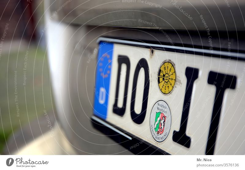 Do it ! do it do it yourself Car Number plate Vehicle License plate license plate Home improvement Signs and labeling Motor vehicle Dortmund