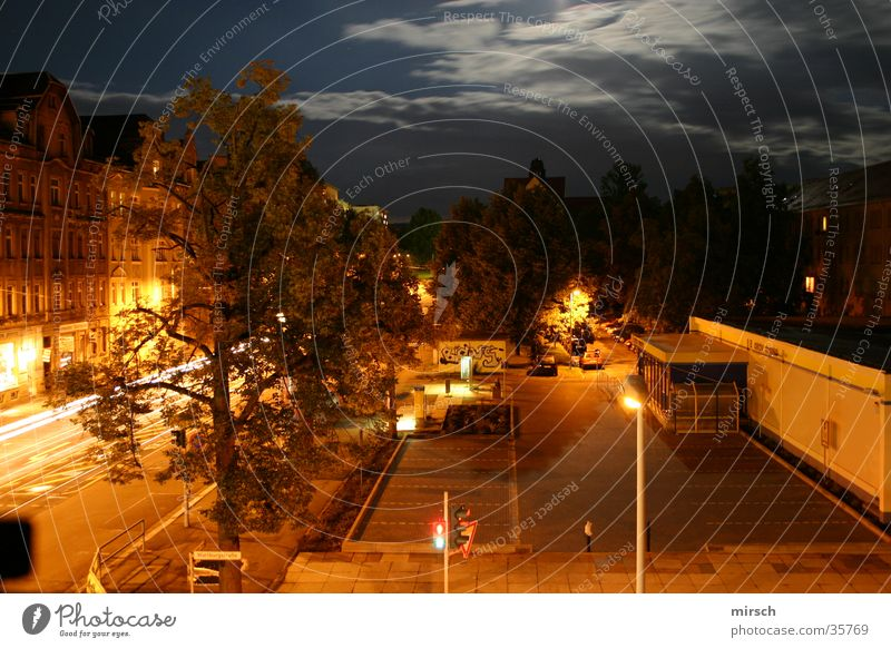 look out the window at night Night Long exposure House (Residential Structure) Dark Mixture Street