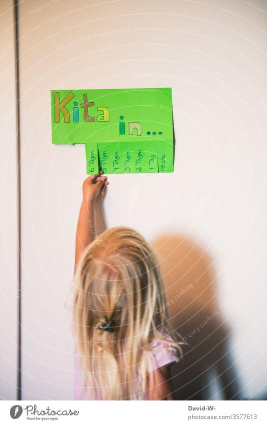 Kindergarten - soon it will start again kita coronavirus by hand girl Infancy Child Virus Playing Toddler pandemic Epidemic Corona virus COVID Quarantine