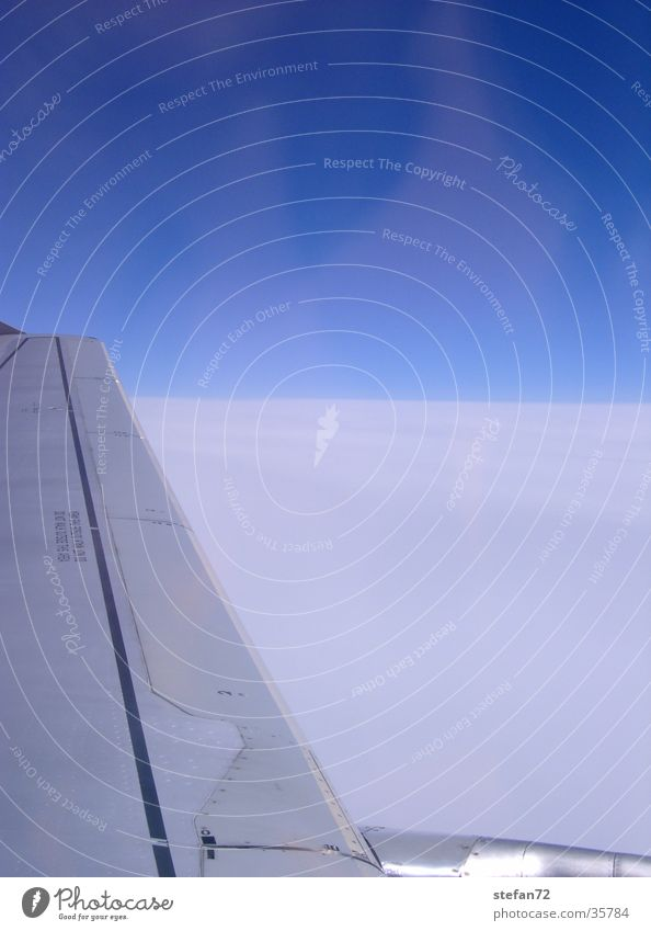 Sky Vacation & Travel Clouds Air Airplane Aviation Vantage point Wing