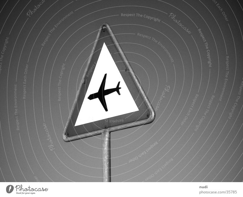airworld #1 Airplane Symbols and metaphors Black White Photographic technology Signs and labeling Respect Sky Signal