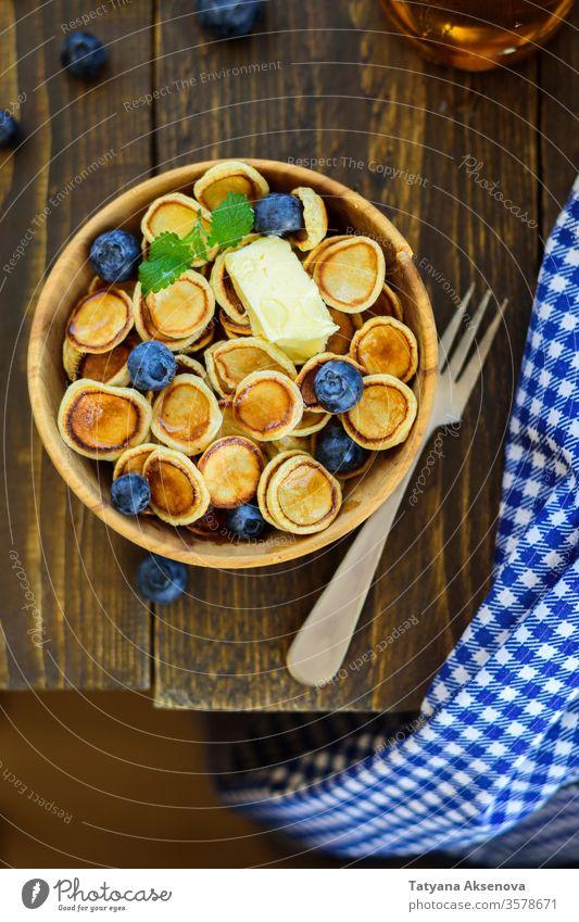 Trendy comfort food - pancakes cereal in bowl pancake cereal breakfast sweet dessert meal snack homemade tiny mini trend honey brunch mini pancakes morning