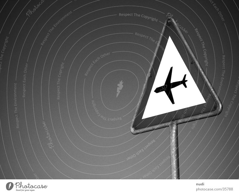 airworld #4 Airplane Symbols and metaphors Black White Photographic technology Sky Signal signet Respect