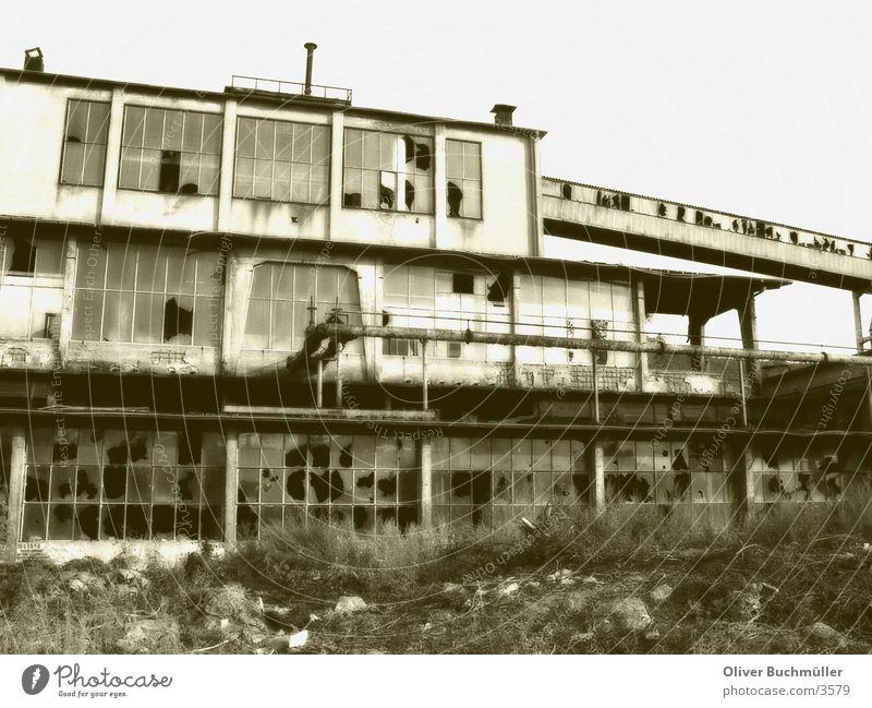 Old Architecture Factory Derelict Brick Sepia Mine Masonry Duplex Saarland