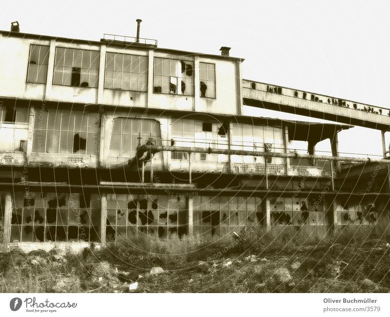 Old masonry Masonry Mine Factory Saarland Brick Duplex Architecture Derelict Sepia