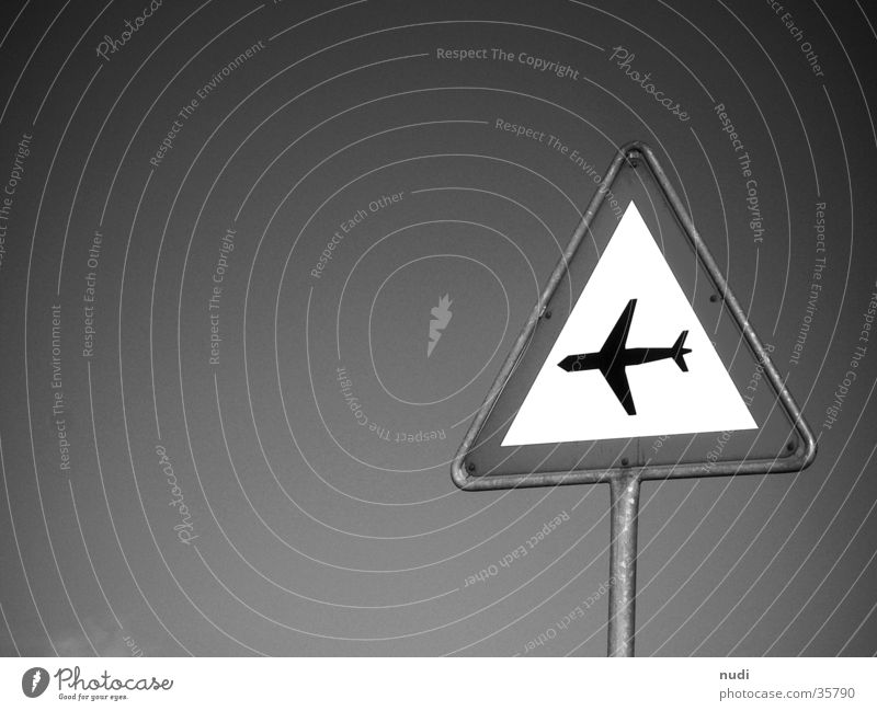 airworld #2 Airplane Symbols and metaphors White Black Photographic technology Sky Signal Respect