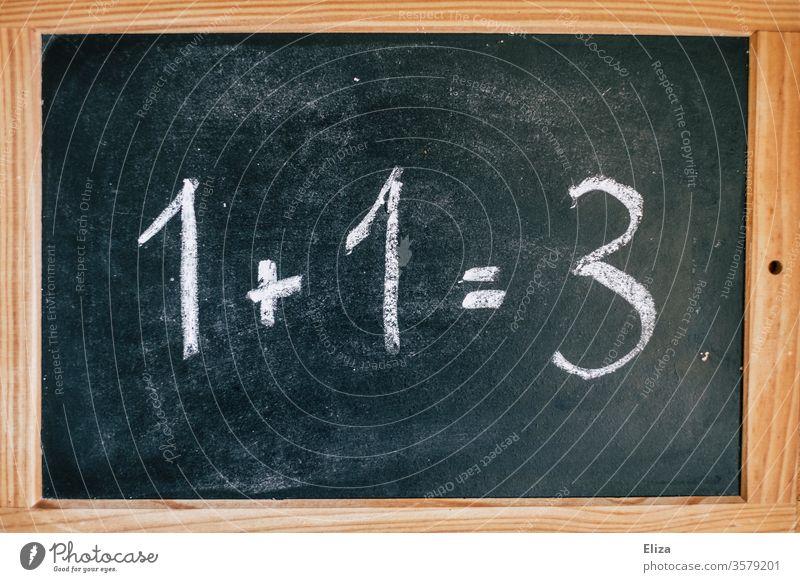 Wrong invoice on a blackboard. Math is really hard. Dyscalculia. Calculation False Invoice Tutoring Math weakness School Education Error Blackboard Study