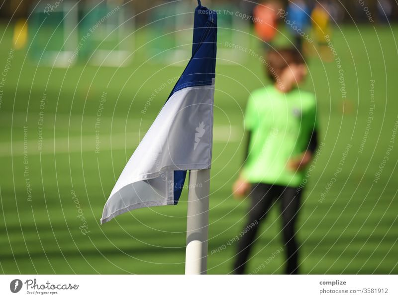 Youth football - Training youth football workout soccer Football pitch exercise corner flag Playing Jersey Places Soccer player Football stadium club Child
