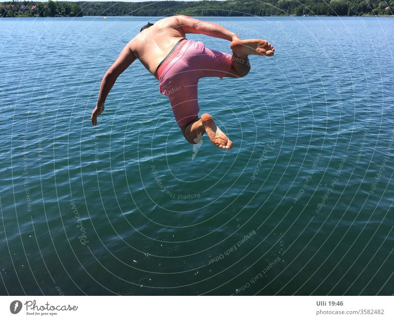 Jump into cold water (No.1) jump cold-blooded Brave courageous Lake Water ass bomb upside down Dive Gooseflesh unrestrained Floating High spirits muck about