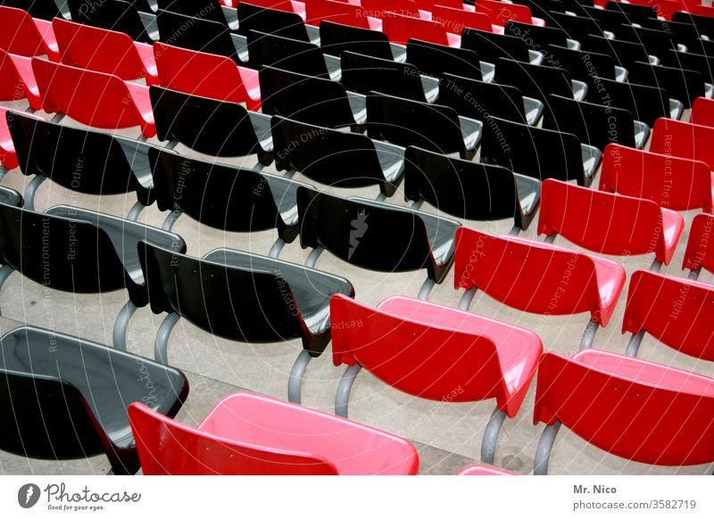 empty rows of chairs Chair Row Row of seats Seating Places Row of chairs Event Red Black Seating capacity Audience Free Concert Hall tribune Stadium Many Sit