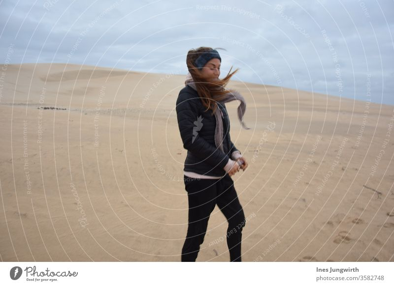 Wind, wind, you heavenly child windy windy weather windy day Desert desert landscape Sand Hair Stylist hair in the wind South Africa Sun Vacation destination