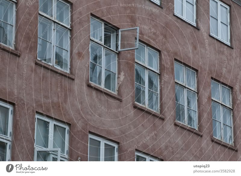 windows Window Window pane Facade Exterior shot Deserted Wall (building) Window frame built Glass Architecture bailer Reflection wood Old dilapidated Story