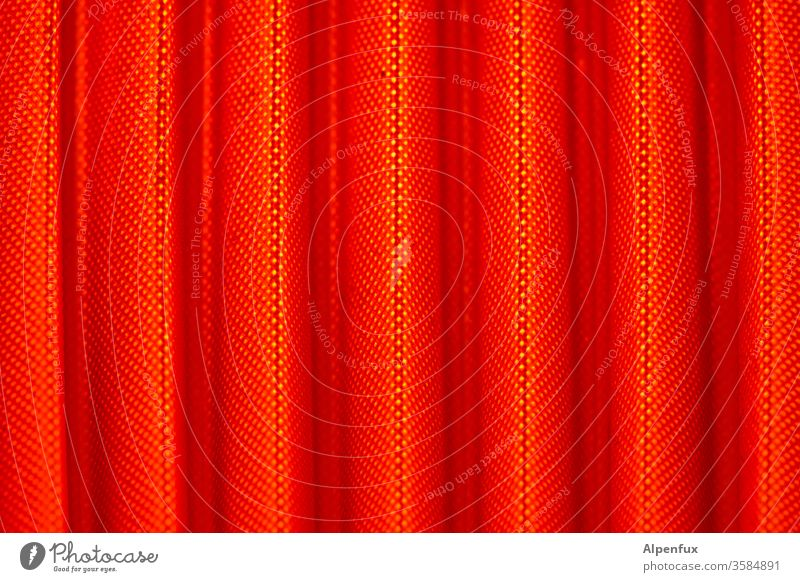 Curtain Up Drape Curtain up Red Cloth Light Pattern Shadow Interior shot Detail Structures and shapes Deserted Close-up Colour photo Contrast
