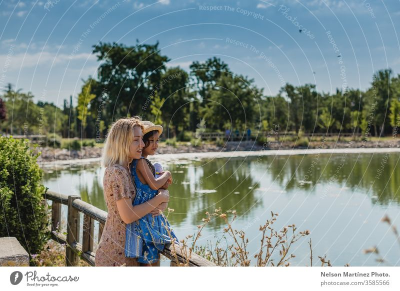 Mom and daughter enjoying a good time in the summer in a lake. adventure camping Vacation & Travel Adventure Exterior shot Nature Landscape Relaxation Deserted