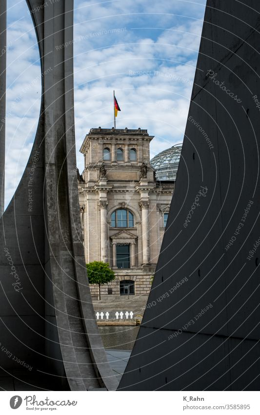 Day in the government district Architecture Town Street built bridge travel Sky Water house. europe Berlin spre German Government marie elizabeth house Modern