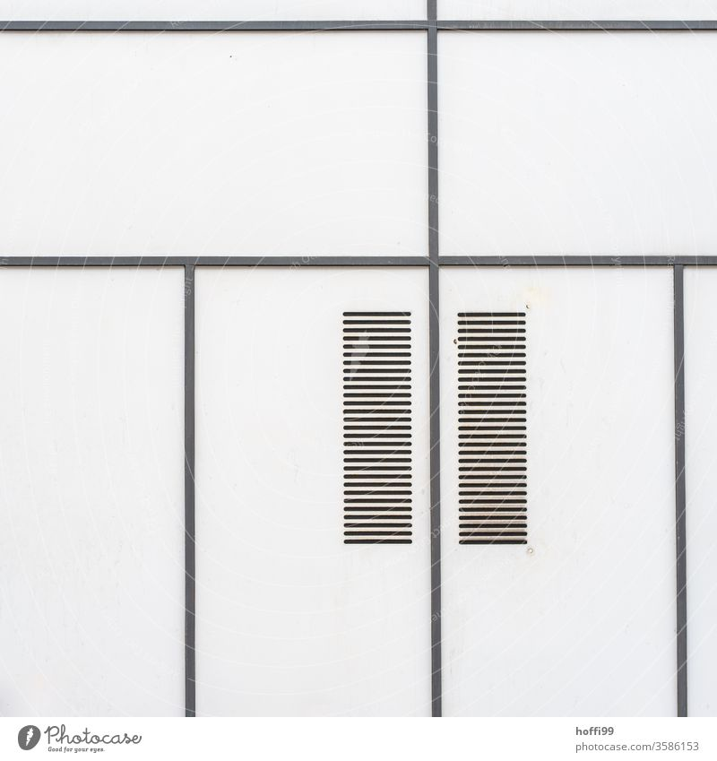 Lines with ventilation slits form a simple almost meditative pattern - less is more Abstract Pattern Simple Black White Minimalistic minimalist background