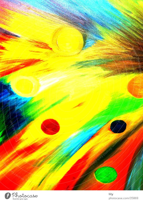 Colour Abstract Image Painting (action, work) Wild animal Dynamics Painting and drawing (object) Oil paint