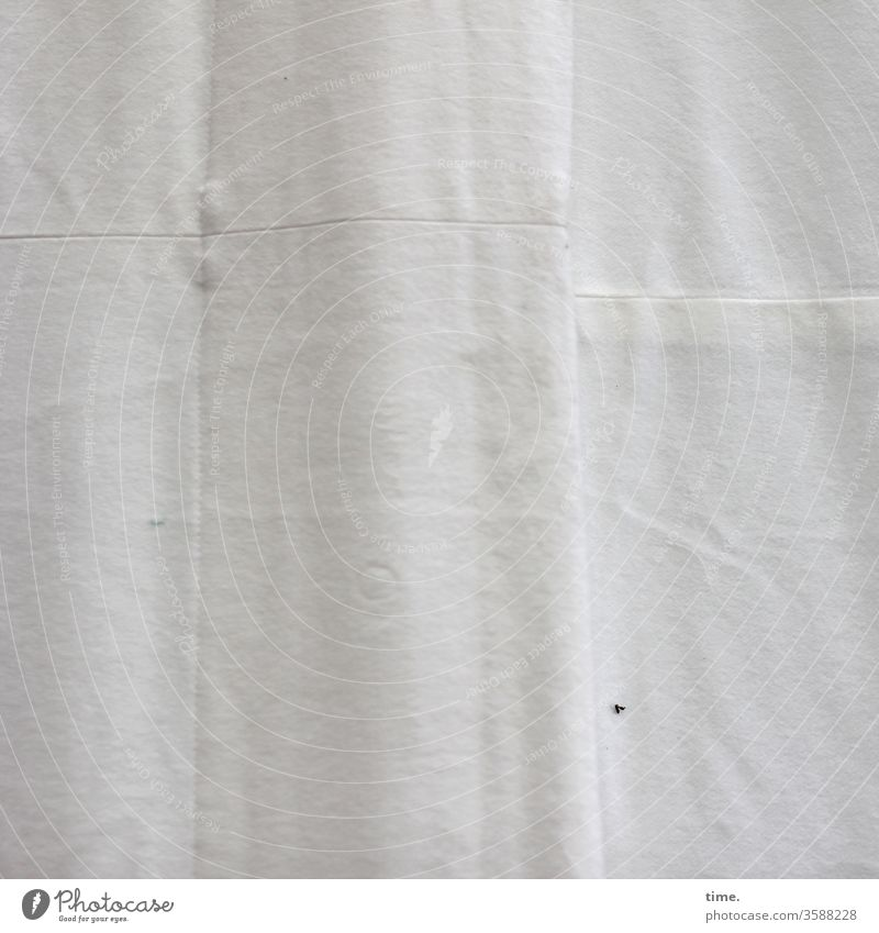 Lifelines #129 Cloth textile Linen Stitching Patch Surface mask sb./sth. Wrinkles Unpressed Bright opaque Bend Drape Curtain hang lifelines