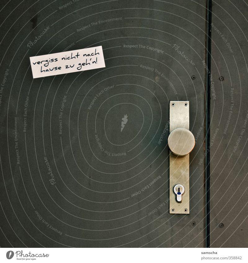 Don't forget to go home! Town Downtown House (Residential Structure) Door Characters Going Home Doorman Door lock Door opener Doorknob Entrance Front door