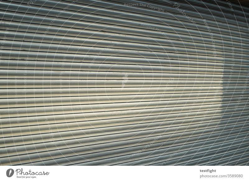 Shutter Load shank Closed too roller shutter Shop Sunlight Shadow Light Metal Rolling door