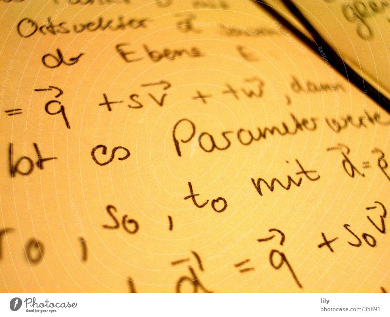 dear (math) diary... Reading Mathematics Piece of paper Notebook Book Science & Research Characters Write Study parameter vectors mnemotechnic Academic studies