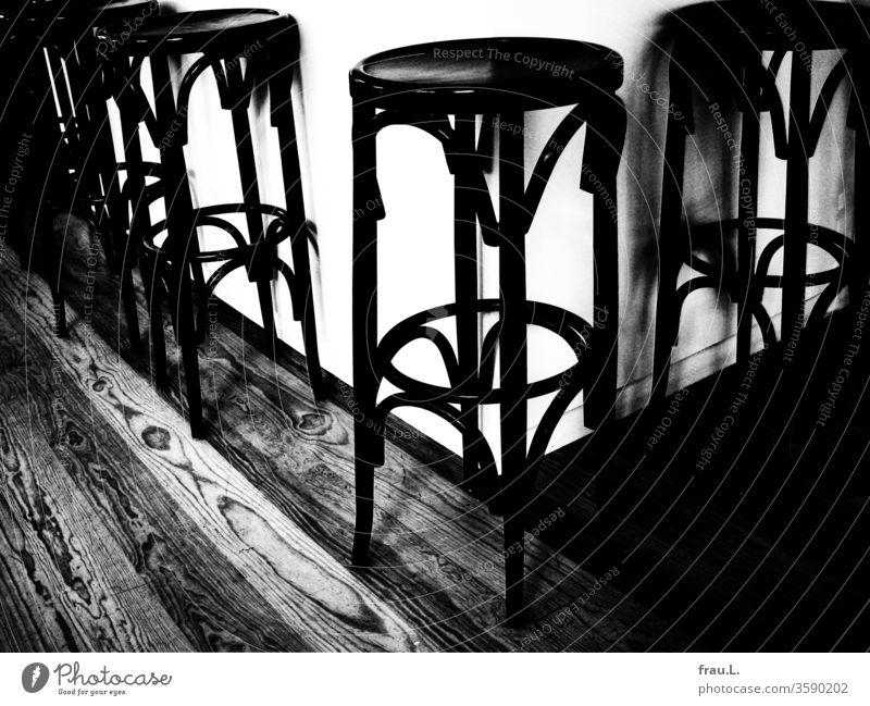 """When bar stools start to hurt"" was HIV, emptiness is Corona. Bear Club Empty Bar stool Counter Restaurant Pub Bistro"