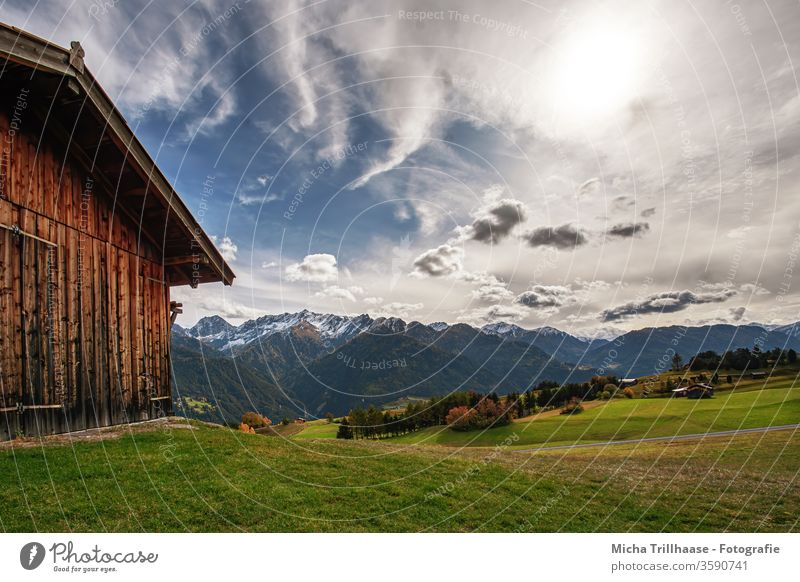 Alpine landscape Serfaus-Fiss-Ladis / Austria Serfaus Fiss-Ladis Alps Federal State of Tyrol Landscape Mountain Peak Snowcapped peak Deserted Wide angle