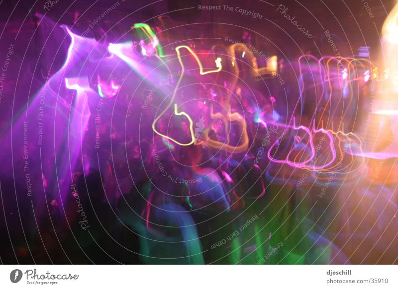 Parteyyyyy Disco Club Party Long exposure Handbill Colour Dance Feasts & Celebrations Party goer