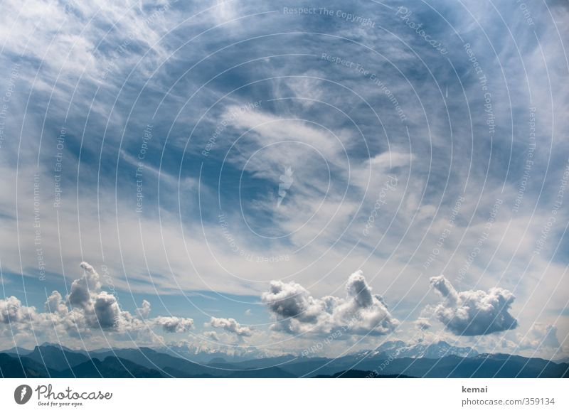 Sky Nature Blue Beautiful White Summer Landscape Clouds Environment Far-off places Mountain Rock Air Climate Beautiful weather Tall