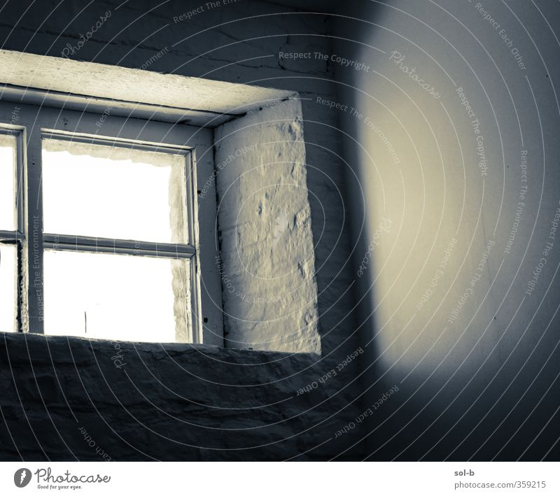 Studio Living or residing Interior design Room Architecture Wall (barrier) Wall (building) Window Old Poverty Gray Black White Hope Sadness Loneliness