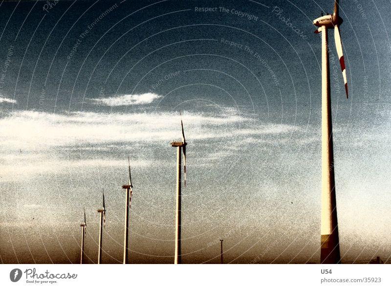 Sky Clouds Landscape Wind energy plant Highway Renewable energy