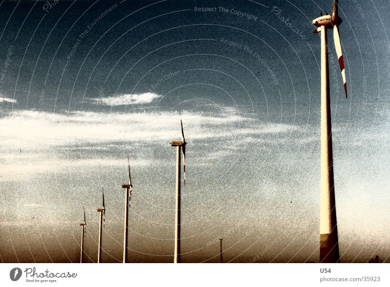 stream Clouds Highway wind current Wind energy plant Sky Landscape