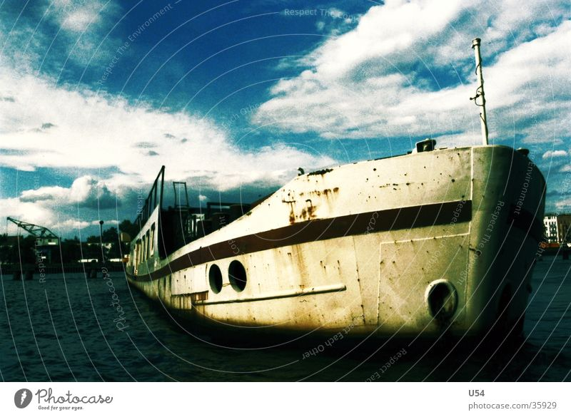 Water Watercraft River Navigation Spree Clouds in the sky Passenger ship