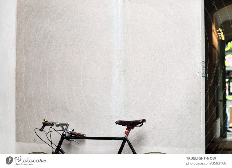 Pfff - gasoline stinks! The chic hipster bike nosed and tantalizingly stretched its shiny leather saddle up into the air, whereby it knew how to stage itself elegantly in front of the white wall of a Berlin backyard