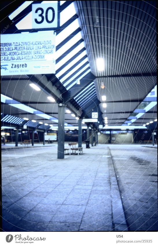 way out. Bus terminal Mobility Arrival Hope Transport Berlin Station Evening Street Escape