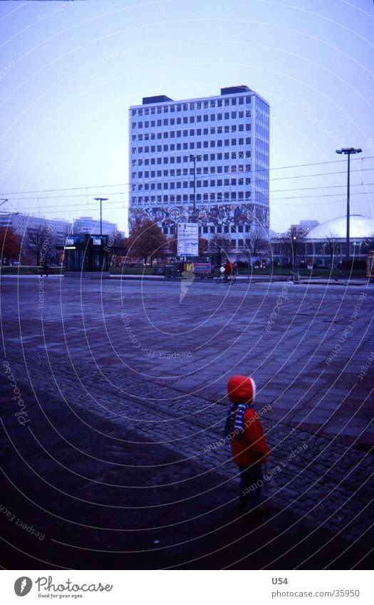 Red Riding Hood Alexanderplatz Girl Doomed Forget Architecture Berlin red jacket Loneliness House of the teacher
