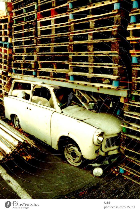 Wood Car Transport Mobility Parking lot Cardboard Trabbi Palett Terminus