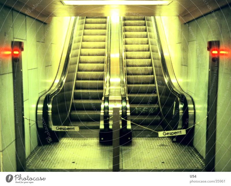 cul-de-sac Underground Escalator Going Barred Repair Diversion Detour Obscure out of order