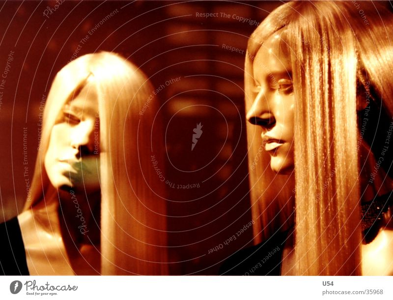 Sisters #2 Blonde Model Obscure Hair and hairstyles Placed Doll Face Statue Fashion