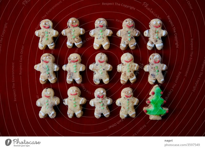 mixed in | Many little cookie men and a Christmas tree, Christmas cookies Christmas & Advent Cookie Christmas biscuit individual Integration differently